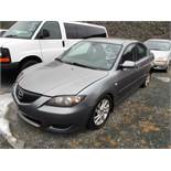 2005 MAZDA 3 NOT RUNNING, 159,601 KM, GREY, 4 CYL 2.0L, MANUAL, A/C, PWR STEERING, PWR BRAKES, PWR