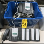 (6) AASTRA 675i VOIP PHONES W/ (2) M690I STATION MODULES