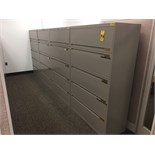 (4) 42 IN 5-DRAWER LATERAL FILE CABINETS
