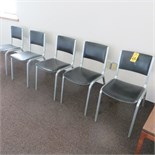 (5) STACKABLE TUBE FRAME ARMLESS CHAIRS