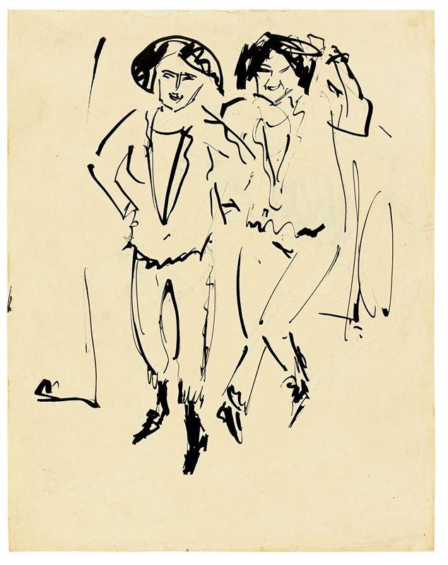 Ernst Ludwig Kirchner (Aschaffenburg 1880 – 1938 Davos) - Bild 2 aus 2