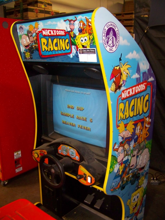 Lot 132 - NICKTOONS KIDS SITDOWN RACING ARCADE GAME