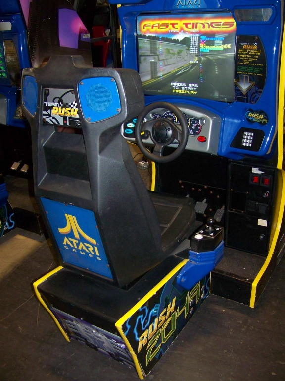 Lot 137 - RUSH 2049 SITDOWN RACING ARCADE GAME ATARI