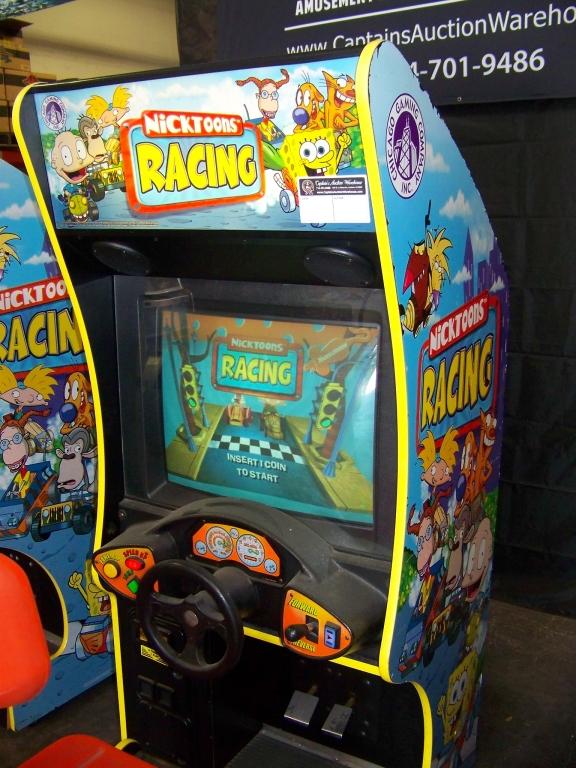 Lot 131 - NICKTOONS KIDS SITDOWN RACING ARCADE GAME
