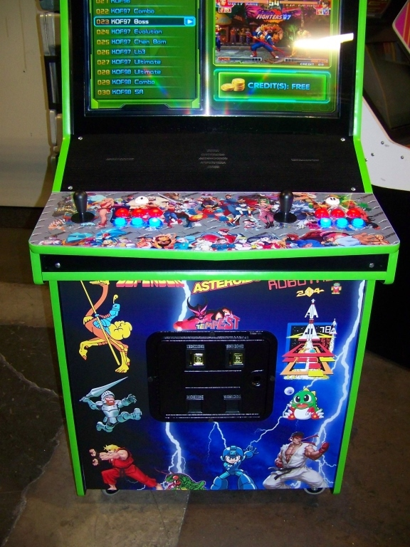 """Lot 124 - MULTICADE UPRIGHT ARCADE GAME 32"""""""" LCD 615 GAMES"""