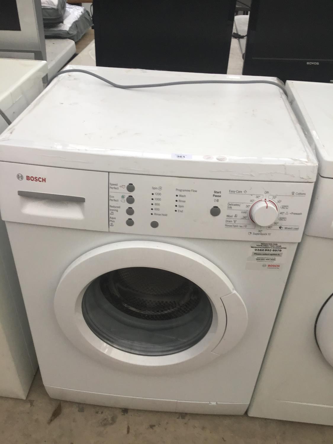 Lot 361 - A BOSCH WASHING MACHINE IN WORKING ORDER