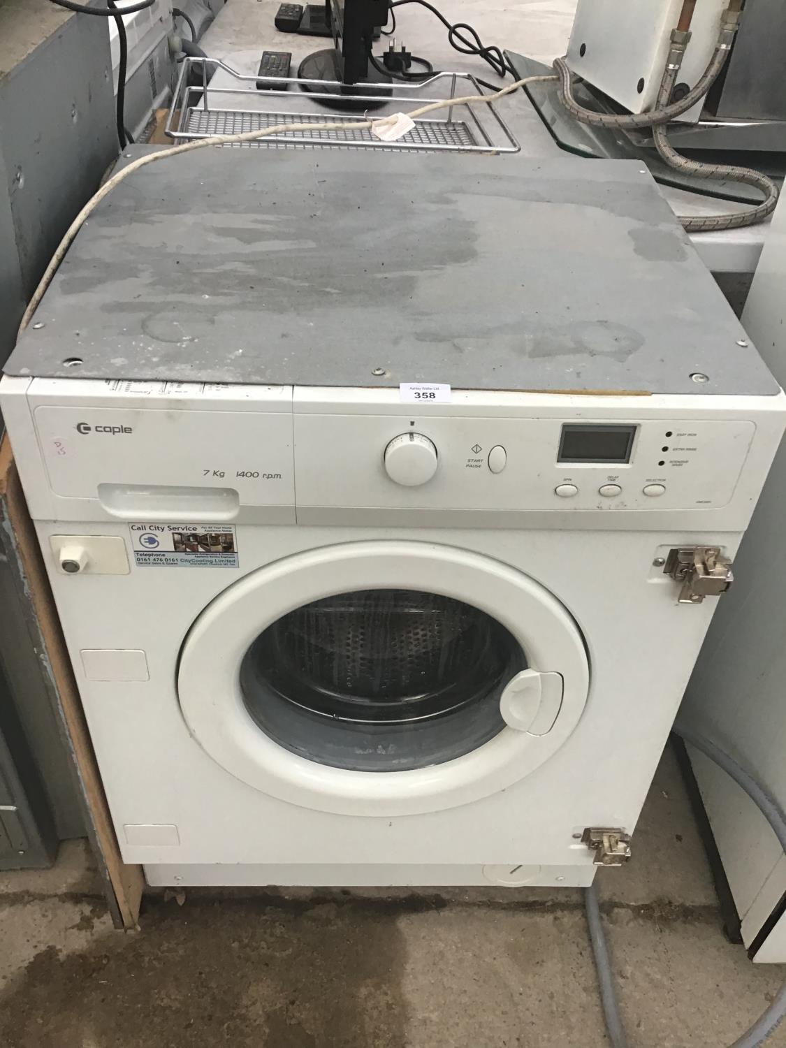 Lot 358 - AN INTEGRATED COPLE WASHER IN WORKING ORDER