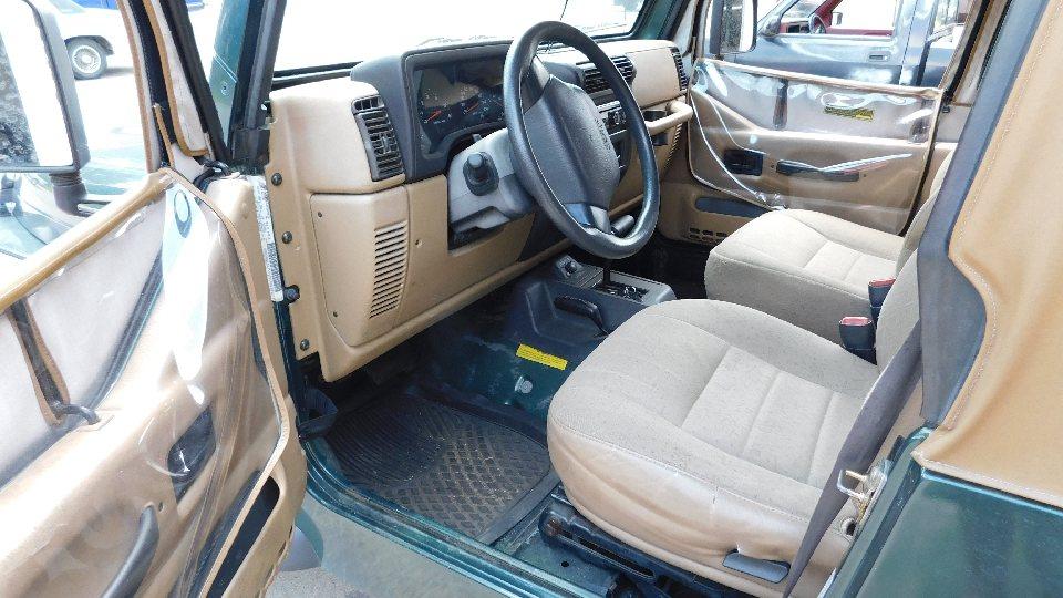 Lot 76A - 2001 Jeep Wrangler, 4X4, Auto, V-6, New Tires, New Soft Top, New Brakes, ODO 143,463, Vin