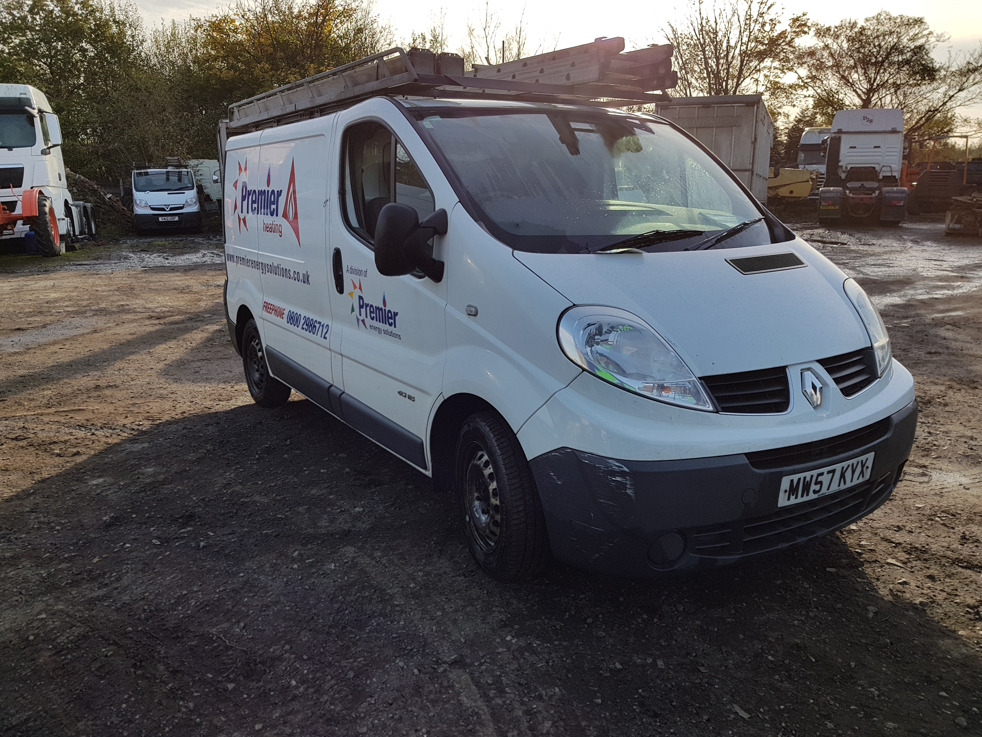 renault trafic sl27 dci 115 diesel panel van registration no mw57 kyx date first registered 1. Black Bedroom Furniture Sets. Home Design Ideas