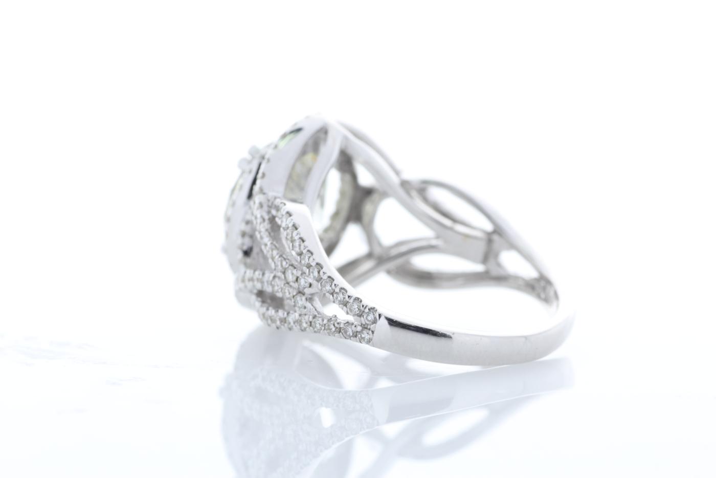 18k White Gold Single Stone With Halo Setting Ring 5.17 - Image 3 of 5