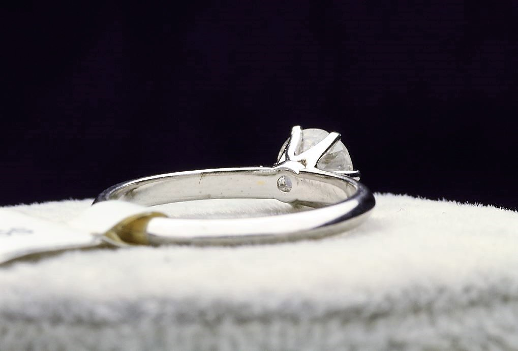 18k White Gold Single Stone Prong Set Diamond Ring 0.70 - Image 3 of 4