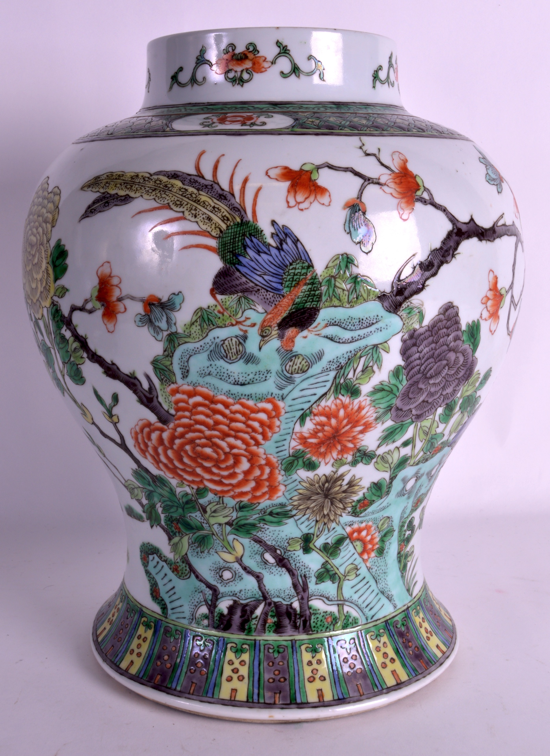 A 19th century chinese famille verte baluster vase guangxu in the lot 783 a 19th century chinese famille verte baluster vase guangxu in the kangxi reviewsmspy