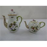 Lot 139 - Herend Rothschild pattern coffee pot and teapot