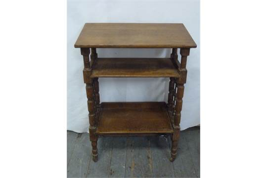 Brilliant An Oak Continental Library Bench With Two Shelves On Turned Ibusinesslaw Wood Chair Design Ideas Ibusinesslaworg