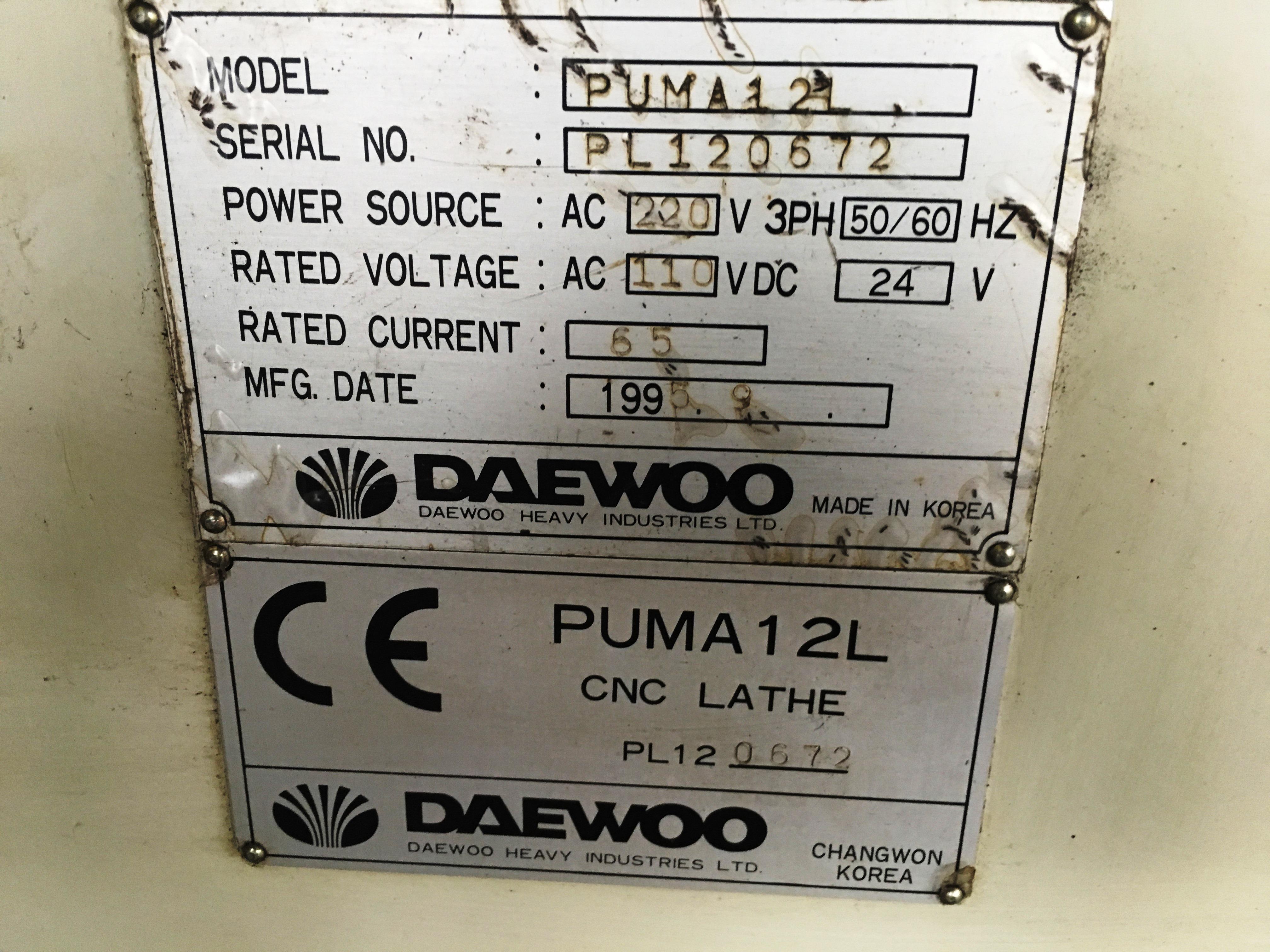 Daewoo Puma 12L CNC Lathe | 1995 - Image 5 of 10