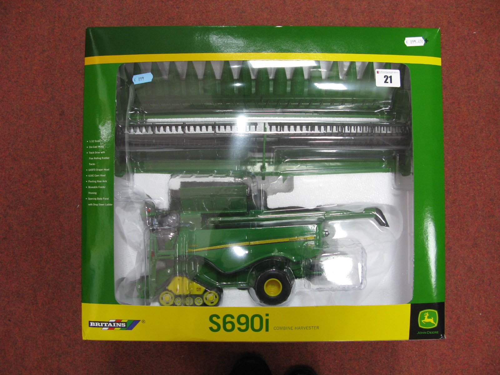 Lot 21 - A Boxed Britains John Deere 1/32nd Scale # 42845 Diecast Model S690i Combine Harvester.