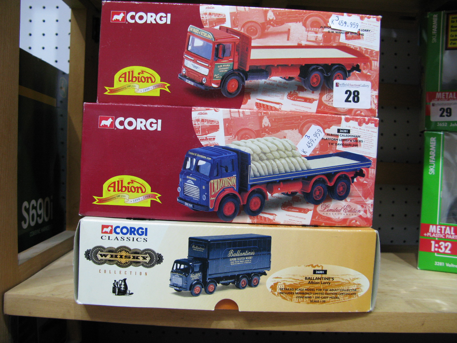 Lot 28 - Three 1/50th Scale Model Diecast Lorries By Corgi, all Albions in Scottish Liveries. All boxed and
