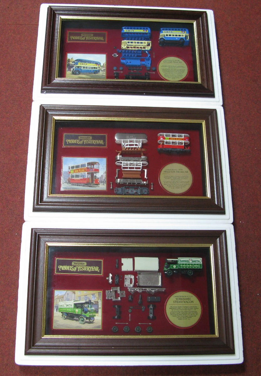 Lot 6 - Three Models of Yesteryear Display Cases, all in original packaging and certificated. Each model