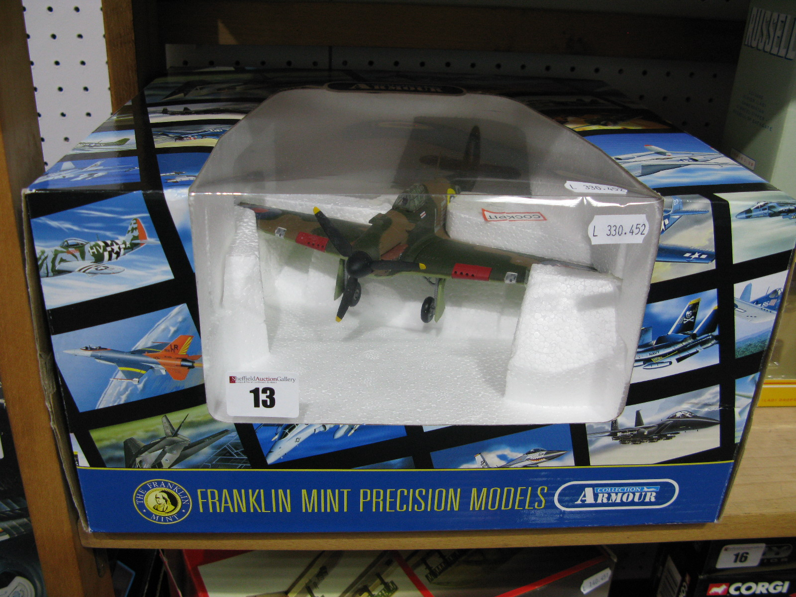 Lot 13 - A Boxed Franklin Mint Collection Armour 1:48th Scale #B11B577 Diecast Model Hurricane MkI, UK RAF,