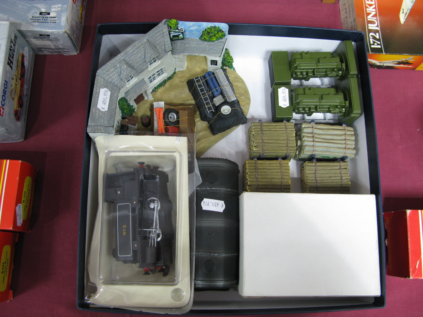 Lot 19 - Twelve 1/50th Scale Haulage Accessories By Corgi, Lionel and Others, unboxed. Includes ten loads