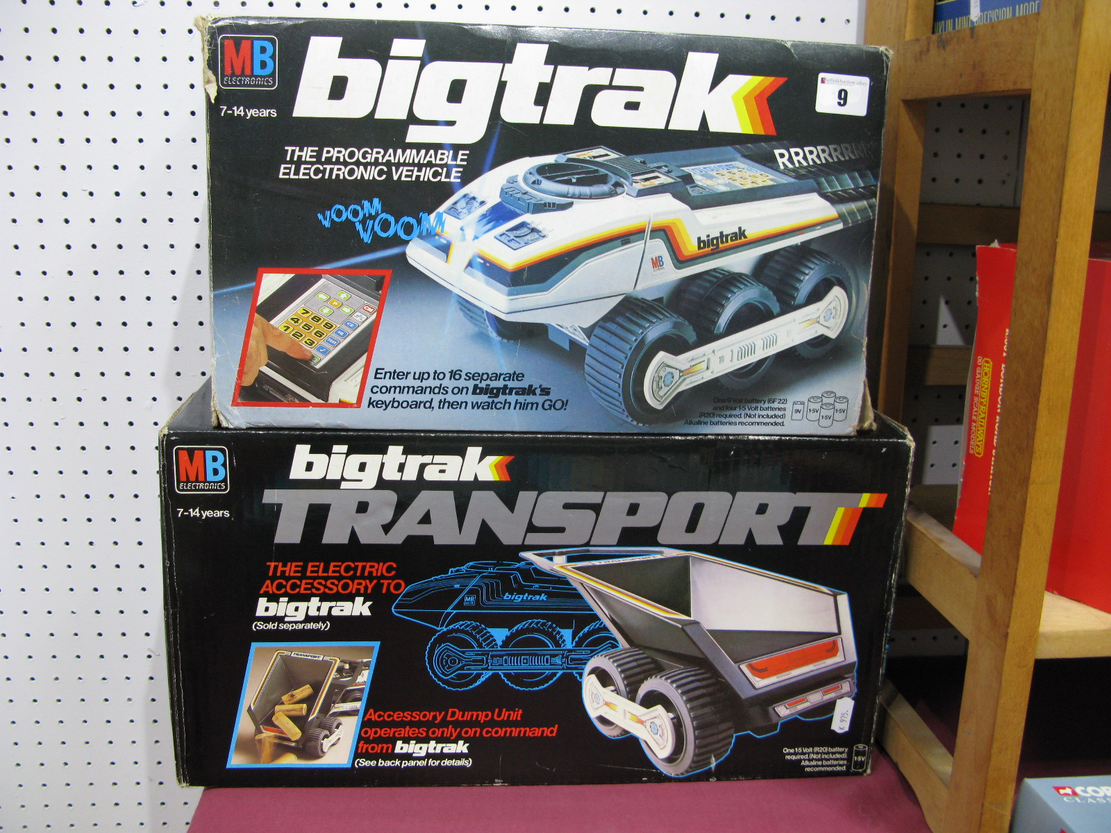 Lot 9 - An Original Boxed MB Bigtrack and Transport Dump Trailer (Circa 1979), instruction booklet.