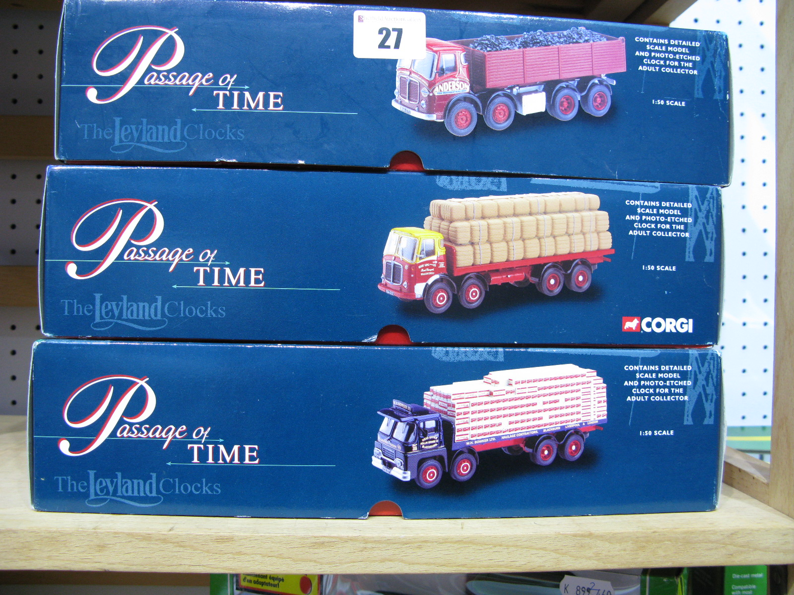 "Lot 27 - Three 1/50th Scale Corgi ""Passage of Time"" Diecast model Trucks With Loads And Scenic Accessories."