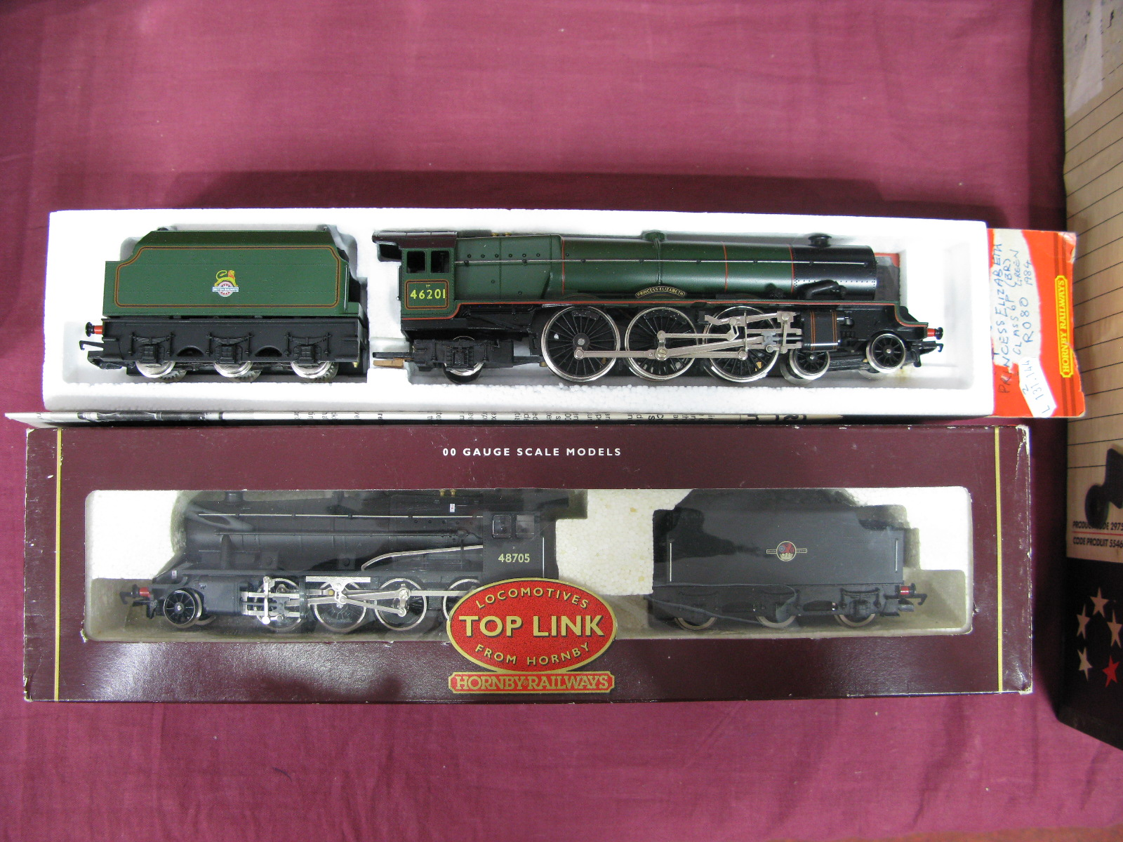 "Lot 37 - Hornby # R2055 ""OO"" Scale Model 2-8-0 Class 8F Locomotive Number 48705, in BR black livery, plus #"