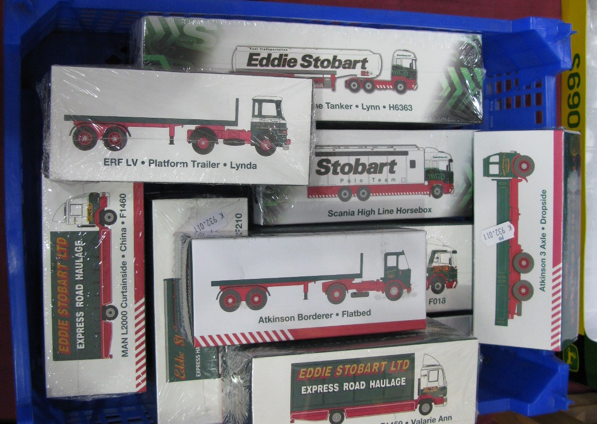 Lot 23 - Ten 1/76th Scale Diecast Model Vehicle, by Atlas Editions, in Eddie Stobart livery. All boxed.