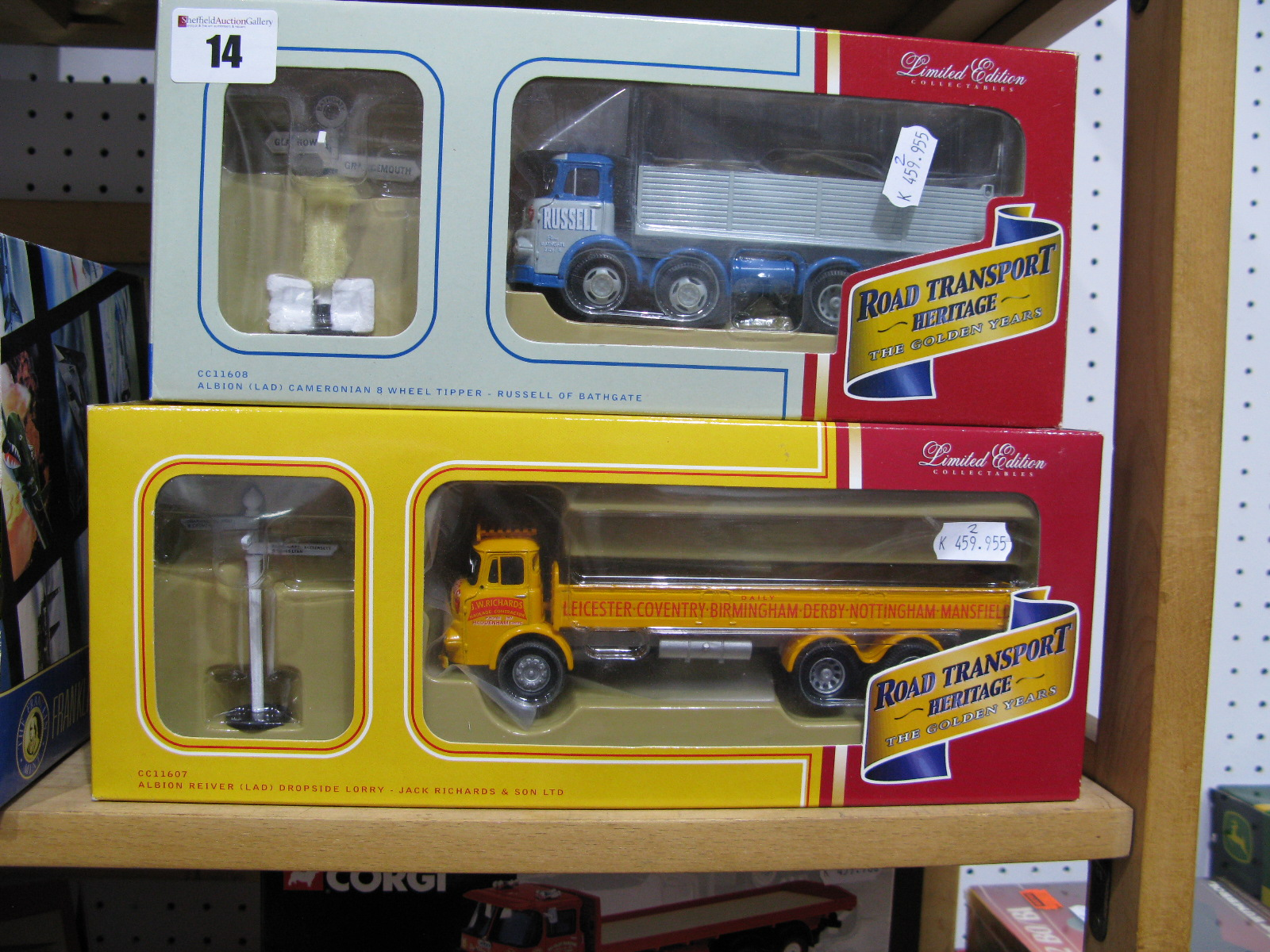 """Lot 14 - Two 1/50th Scale Model Diecast Lorries By Corgi, """"Road Transport Heritage"""". Both boxed and"""