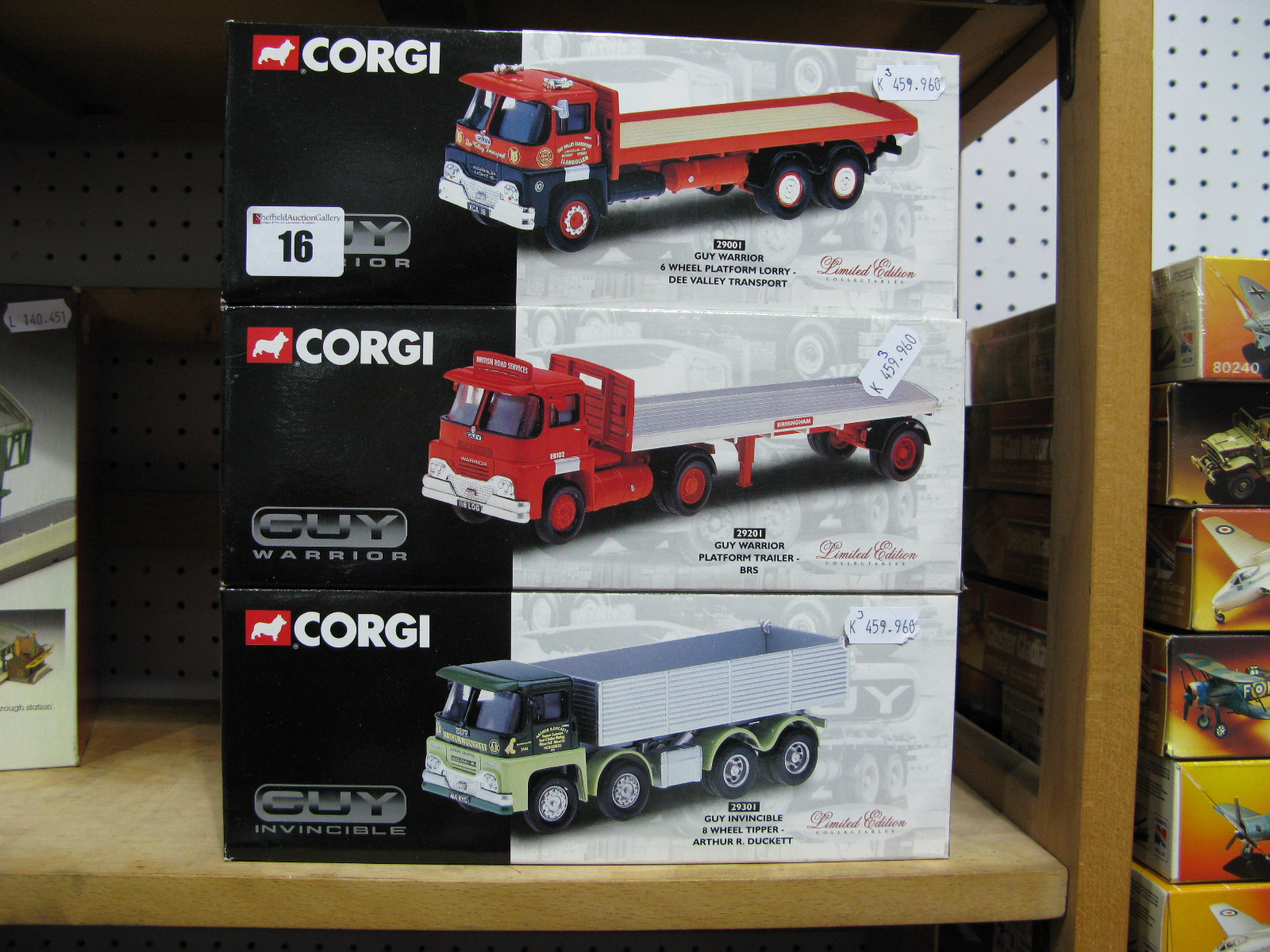 Lot 16 - Three 1/50th Scale Model Diecast Lorries By Corgi, Guy Warrior and Invincible. All boxed and