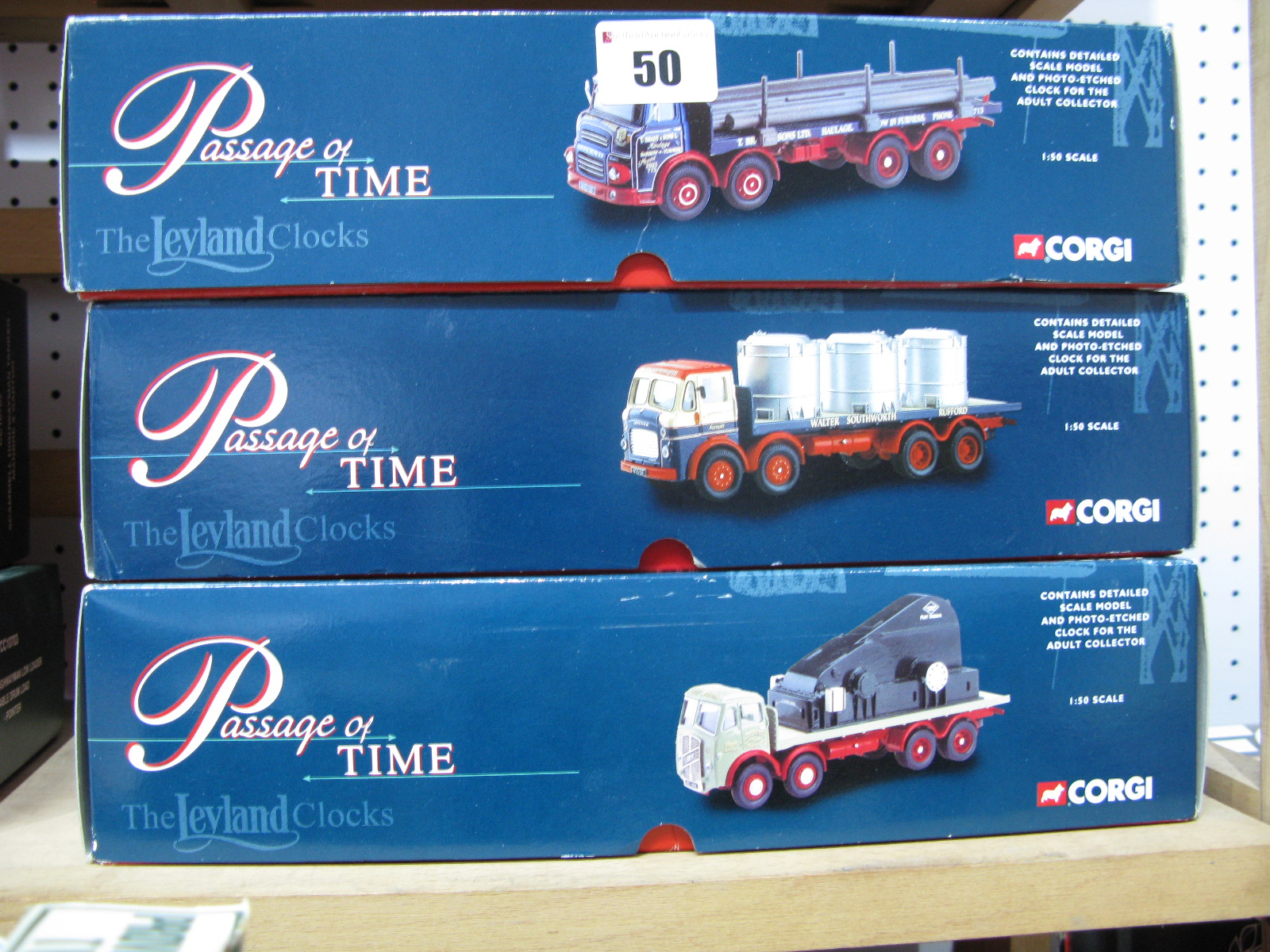 "Lot 50 - Three 1/50th Scale Corgi Diecast ""Passage of Time"" Diecast Model Trucks With Loads And scenic"