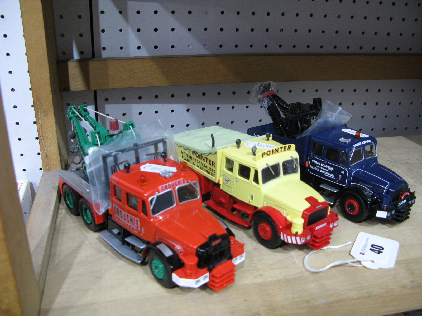 Lot 40 - Three 1/50th Scale Model Diecast Heavy Haulage Tractor Units By Corgi, unboxed. Includes Scammell