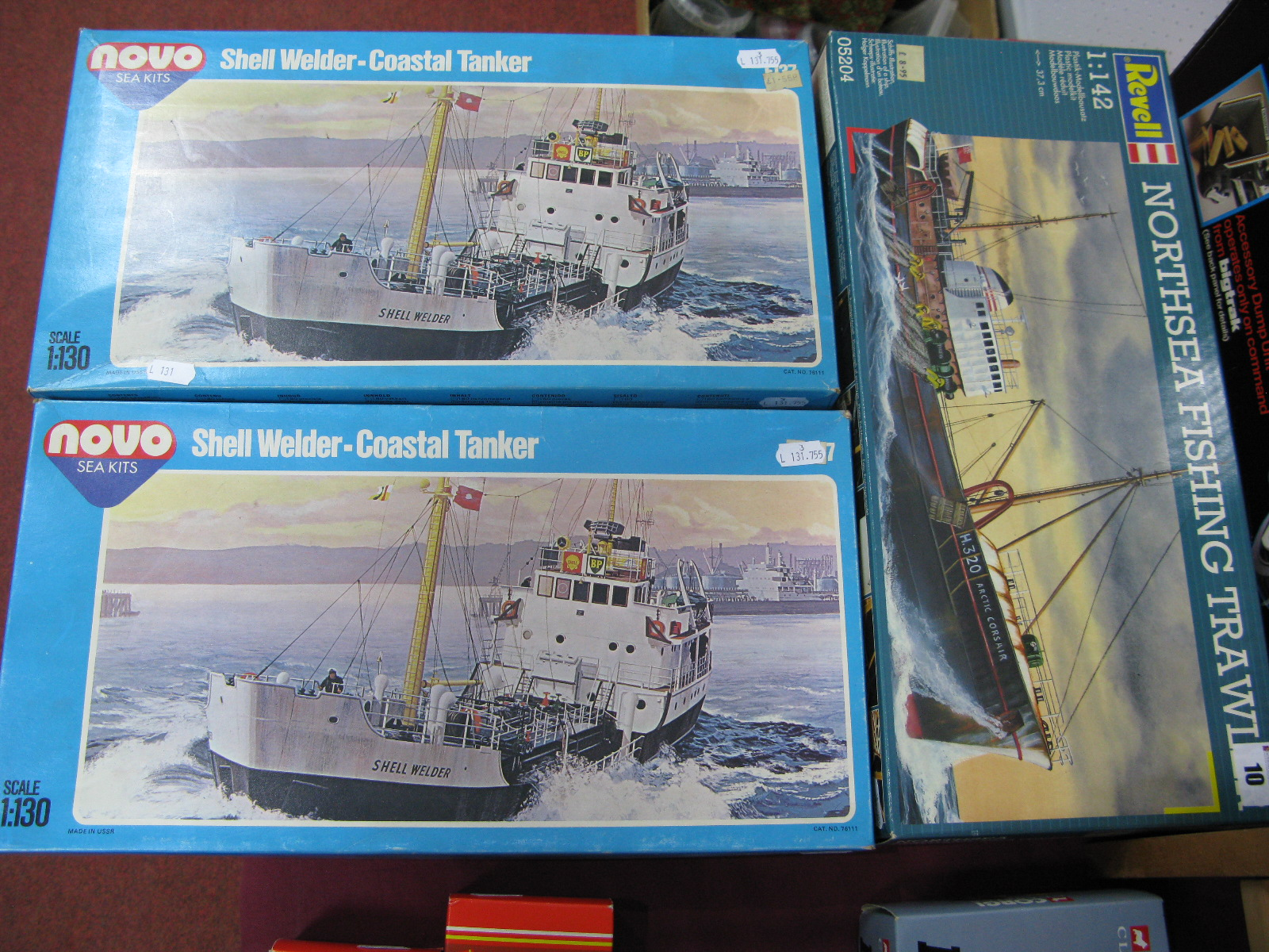 Lot 10 - Three Boxed Plastic Model Trawler Kits, comprising of Revell # 05204 1/42nd Scale North Sea