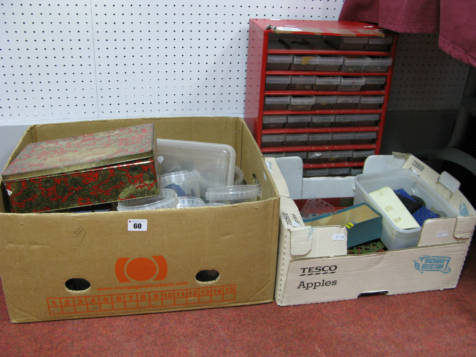 Lot 60 - A Quantity of Assorted Meccano Components, often sorted by type including small multi tray tool