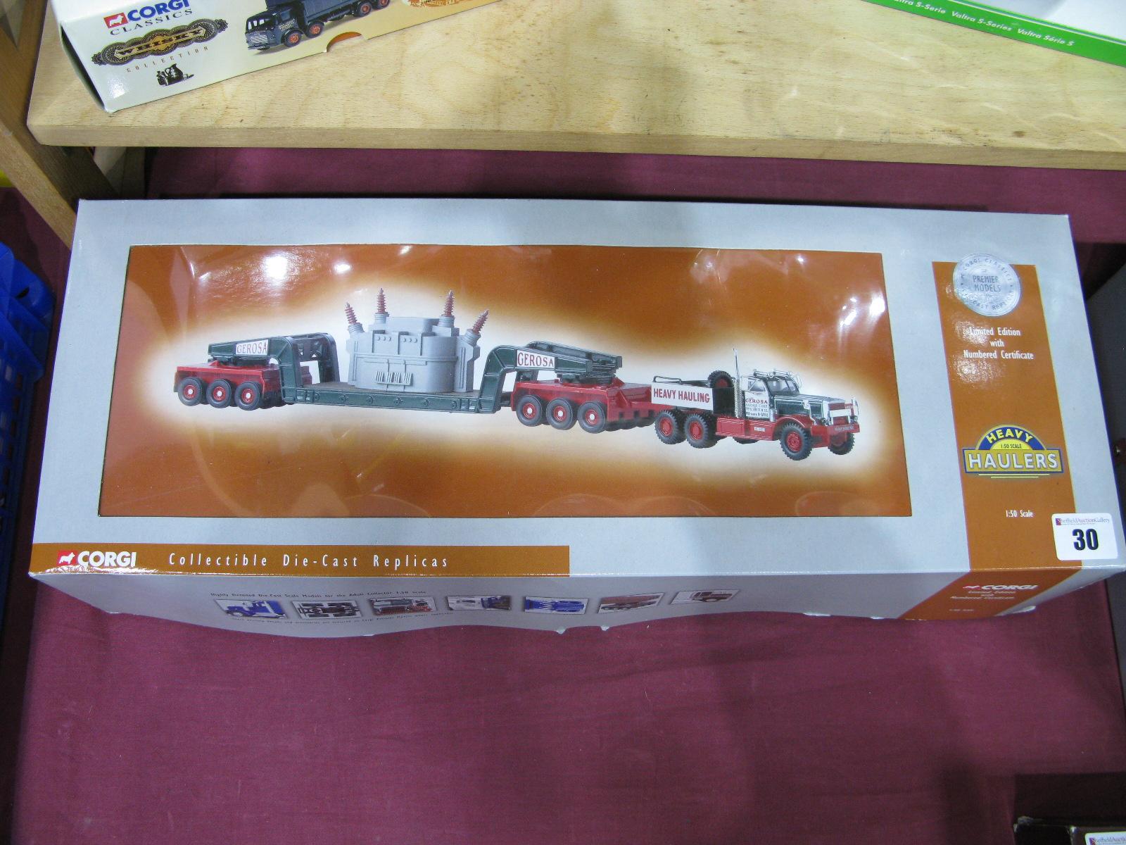 Lot 30 - Two U.S Outline 1/50th Scale Diecast model Trucks By Corgi, # US55103 Diamond T Girder trailer and