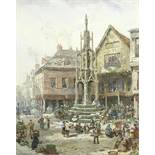Louise J. Rayner (British, 1832-1924) 'The Buttermarket, Winchester'