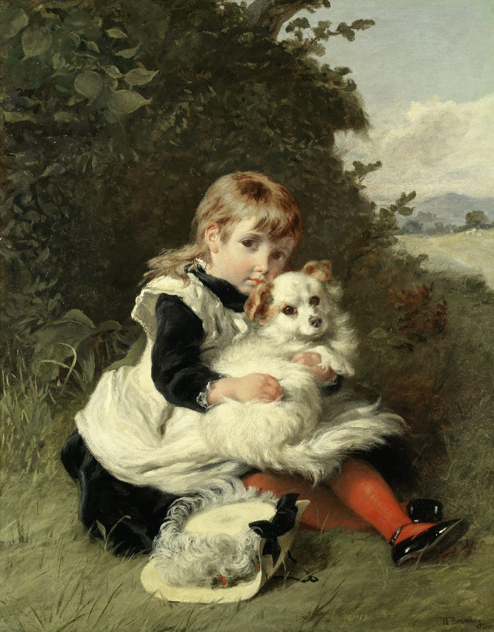 Lot 36 - William Bromley (British, active 1835-1888) The best of friends