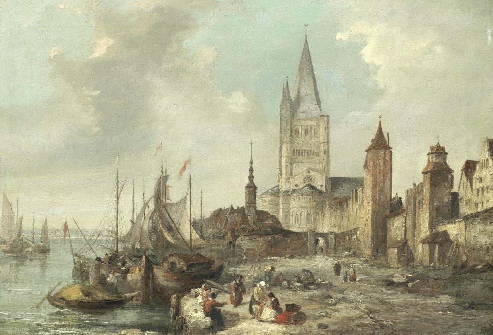 Lot 38 - Attributed to Edward Pritchett (British, 1828-1864) St Martin's, Cologne
