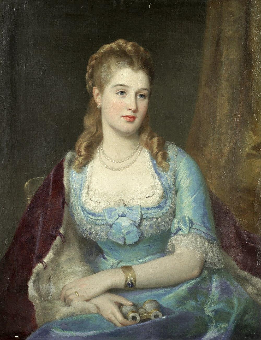 Lot 8 - Attributed to Charles Baxter (British, 1809-1879) At the opera
