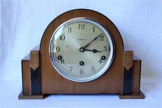 1930's Walker & Hall chiming mantle clock, Garrard movement