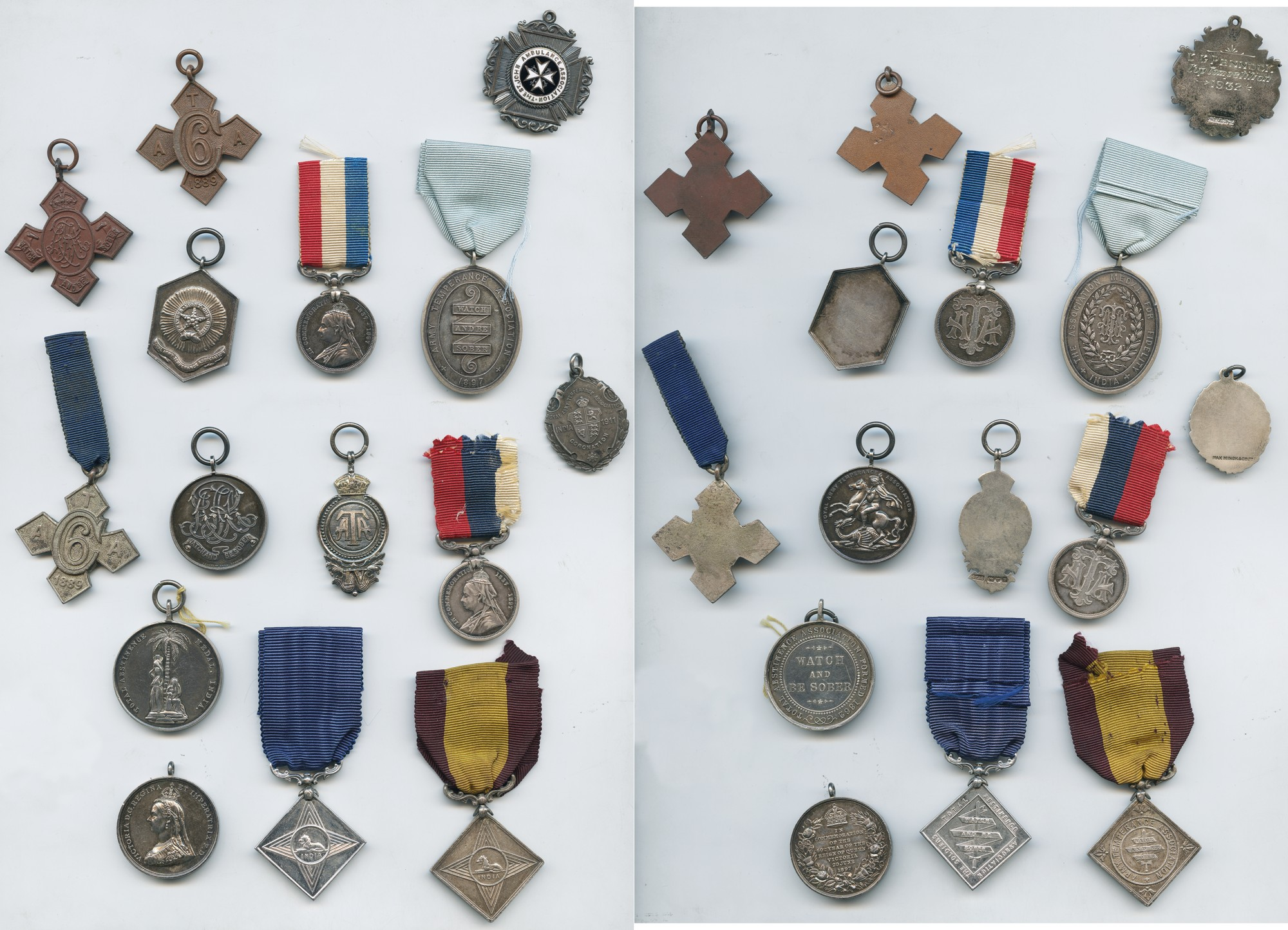 MILITARY MEDALS, Miscellaneous, Army Temperance Medals (14