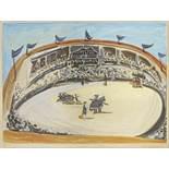 Picasso, Pablo1881 Malaga - 1973 MouginsLa Corrida. 1956. Colour aquatint on vellum. 48 x 65cm (57,5