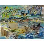 Gilles, Werner1894 Rheydt - 1961 EssenLandschaft. Ca. 1923. Oil on canvas. 50,5 x 65,5cm. Signed