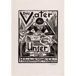 """Pechstein, Hermann Max1881 Zwickau - 1955 Berlin""""Das Vater Unser"""". 1921. Portfolio with 12"""