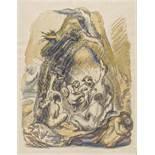 "Meidner, Ludwig1884 Bernstadt - 1966 Darmstadt""In der Urzeit"". 1943. Watercolour over pencil and"