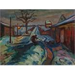 Gotsch, Friedrich KarlSt. Peter Ording 1900 - 1984Der Kohlenschuppen. 1929. Oil on coarse canvas. 61