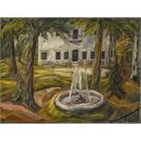 Kleinschmidt, Paul1883 Bobolice - 1949 BensheimSchlosspark. 1909. Oil on canvas. Doubled. 60 x 80cm.