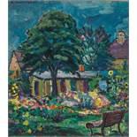 GEORG JUDERSLEBEN (1898-1962), OIL ON CANVAS 'MY GARDEN'Georg Judersleben (1898-1962)Oil on