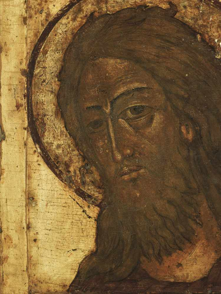 RUSSIAN ICON WITH PORTRAYAL OF JESUS CHRIST, 19th CENTURYWood, polychrome egg temperaRussia19th - Image 2 of 4