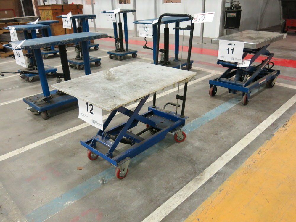 Lift Table, 450 Lb Cap. Hydraulic Die Lift Cart